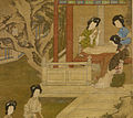 Tang Yin - Making the Bride's Gown - Walters 3520 - Detail D.jpg