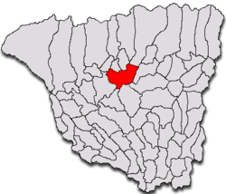 Location of Târgu Jiu on Gorj County Map