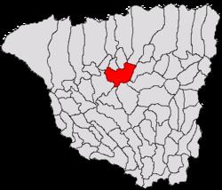 Loko de Târgu Jiu sur Gorj County Map