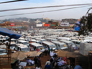 Taxis in Kampala, Uganda