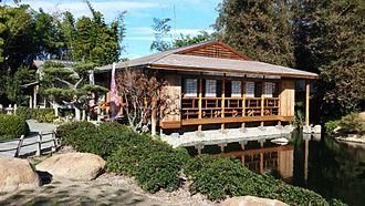 The Japanese Garden - The garden's tea house.