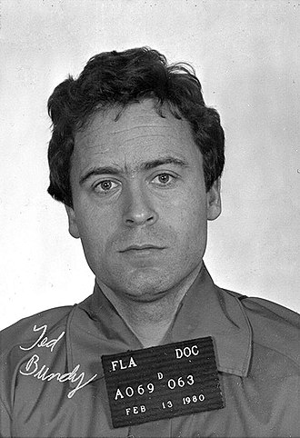 Ted Bundy - Mug shot taken the day after sentencing for the murder of Kimberly Leach