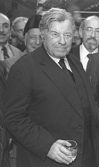 Teddy Kollek during a Christmas eve cocktail party.jpg