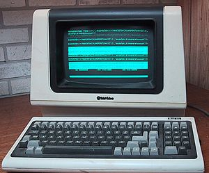 Computer terminal - A Televideo ASCII character mode terminal, using a microprocessor, manufactured around 1982