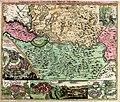 Temesi bánság és környéke az 1716-1717 Claude Florimond de Mercy térképe.jpg
