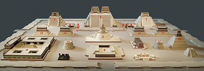 Templo Mayor model with numbers.jpg