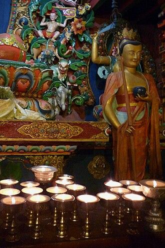 Tengboche Monastery - A deity in the main Sanctum