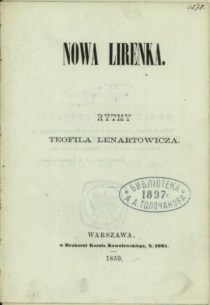 File:Teofil Lenartowicz - Nowa lirenka.djvu