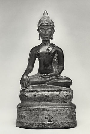 "Arsenical bronze - Image: Thai Seated Buddha in ""Maravijaya"" Walters 542742"