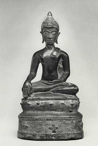 """Arsenical bronze - Image: Thai Seated Buddha in """"Maravijaya"""" Walters 542742"""