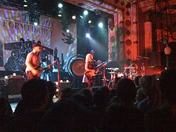 The Joy Formidable in Chicago, 2011von links:Rhydian Dafydd, Ritzy Bryan, Matt Thomas
