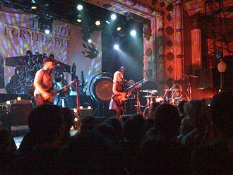 The Joy Formidable - The Joy Formidable, performing at Metro in Chicago on 14 December 2011. Left to right: Rhydian Dafydd, Ritzy Bryan, Matt Thomas.