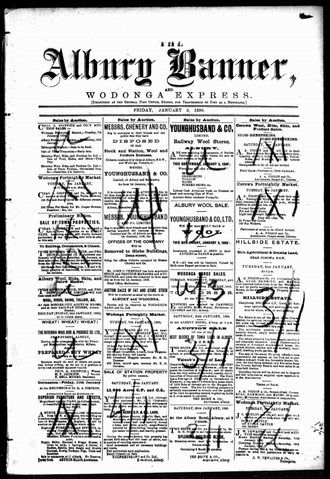 The Albury Banner and Wodonga Express - The Albury Banner and Wodonga Express, 3 January 1896