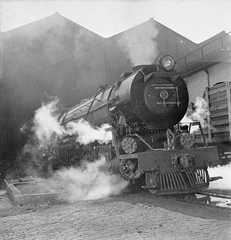 South African Class 15F 4-8-2 - Final steam test at NBL, c. 1945