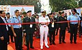 The Chairman, Chiefs of Staff Committee and Chief of Naval Staff, Admiral Sunil Lanba inaugurating the Scientific Exhibition, at the 42nd ICMM World Congress on Military Medicine, in New Delhi.jpg