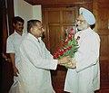 The Chief Minister of Uttar Pradesh Shri Mulayam Singh Yadav calls on the Prime Minister Dr. Manmohan Singh in New Delhi on June 28, 2004.jpg