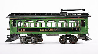 Voltamp - An Interurban 2115 toy train in the permanent collection of The Children's Museum of Indianapolis.