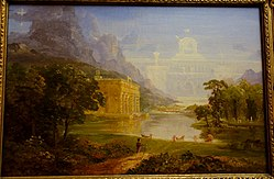 The Cross and the World - The Pilgrim of the World on his Journey, study by Thomas Cole, c. 1846-1847, oil on canvas - Albany Institute of History and Art - DSC08125.JPG