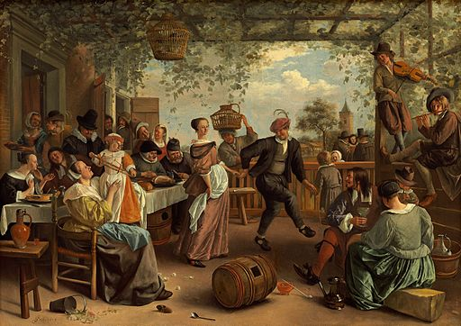 The Dancing Couple-1663-Jan Steen