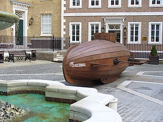 Cornelis Drebbel - Reconstruction of the Drebbel, Richmond upon Thames. In 2002, the British boatbuilder Mark Edwards built a wooden submarine based on the original version by Drebbel. It was shown in the BBC TV programme Building the Impossible in 2002.