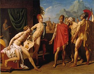 Jean-Auguste-Dominique Ingres - The Envoys of Agamemnon, 1801, oil on canvas, École des Beaux Arts, Paris