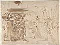 The Head of Pompey Presented to Julius Caesar (recto); Study for an Elaborate Door Frame (verso) MET DP811053.jpg