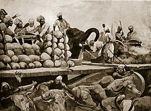 Alamgir II - Mughal artillerymen under the command of Siraj-ud-Daula during the Battle of Plassey.