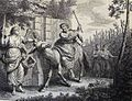 The Phillip Medhurst Picture Torah 575. Balaam smites his ass. Numbers cap 22 vv 22-32. Dutch Picture Torah.jpg