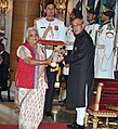 The President, Shri Pranab Mukherjee presenting the Padma Shri Award to Dr. Mrs. Janak Palta Mcgilligan, at a Civil Investiture Ceremony, at Rashtrapati Bhavan, in New Delhi on March 30, 2015.jpg
