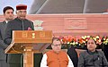 The President, Shri Ram Nath Kovind addressing at the civic reception hosted for him by the state government of Himachal Pradesh, in Shimla.JPG