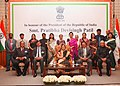 The President, Smt. Pratibha Devisingh Patil with the Indian Community at a Reception hosted by the Indian Ambassador to Syria, at Damascus, in Syria on November 28, 2010.jpg