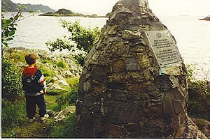 The Prince's Cairn, Loch Nan Uamh. - geograph.org.uk - 110963.jpg