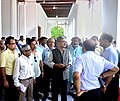 The Secretary, Ministry of Culture, Shri Raghvendra Singh reviewing the ongoing restoration, renovation and revamping works at the Belvedere House of the National Library, in Kolkata on July 19, 2018 (2).JPG