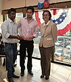 The U.S Consulate Chennai celebrated its two-year anniversary on Facebook with U.S. Consul General Jennifer McIntyre, actors Bharath Srinivasan and Jeyam Ravi18.jpg