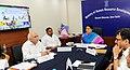 The Union Minister for Human Resource Development, Smt. Smriti Irani addressing after digitally launching the projects under the Rashtriya Uchchatar Shiksha Abhiyan (RUSA), in New Delhi.jpg