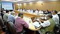 The Union Minister for Mines, Steel and Labour & Employment, Shri Narendra Singh Tomar in a meeting with the Chief Minister of Karnataka, Shri Siddaramaiah, in Bangalore on July 04, 2014.jpg