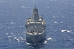 The amphibious transport dock ship USS San Antonio (LPD 17) steams through the Red Sea June 16, 2013 130616-N-SB587-147.jpg