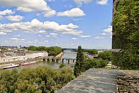 The bridges over Maine (view from the Angers Castle).JPG