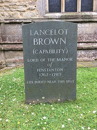 Capability Brown - The grave of Capability Brown in the churchyard of St Peter and St Paul, Fenstanton, Cambridgeshire