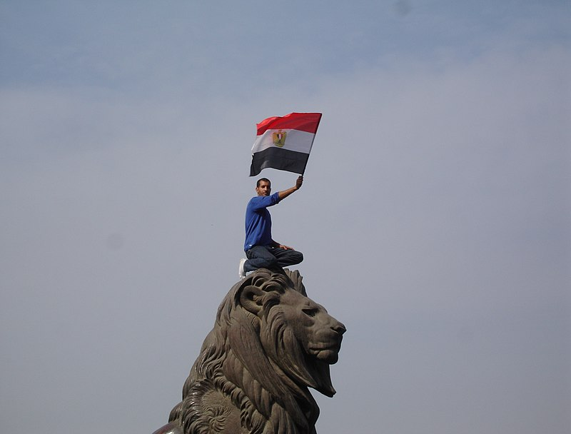 The lion of Egyptian revolution (Qasr al-Nil Bridge)