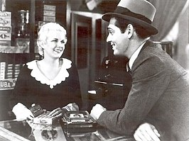 Jean Harlow en Clark Gable in The Secret Six