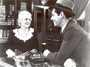 Jean Harlow and Clark Gable in a promotional s...