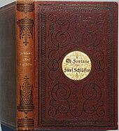 Fünf SchlösserVerlags-Einband der ersten Buchausgabe (Quelle: Wikimedia)