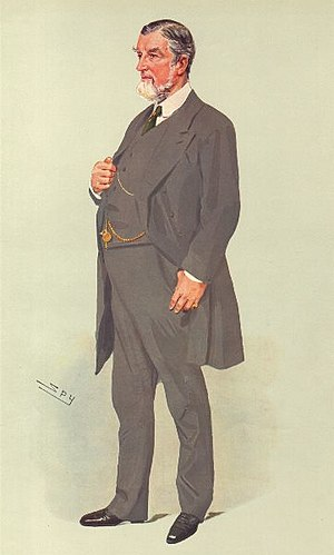 """Theodore Fry - """"Not a Small Fry"""", caricature by Spy in Vanity Fair, 1909."""