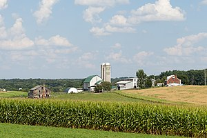 Jefferson Township, Butler County, Pennsylvania - A dairy farm near route 356