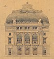 Third Salle Favart, elevation of the principal facade, drawing by Louis Bernier – Gallica 2017.jpg