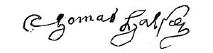 Thomas Halsey (1591–1679) - Image: Thomas Halsey Signature