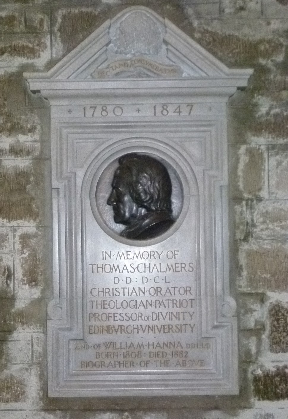 Thomas Chalmers memorial plaque, St. Giles, Edinburgh
