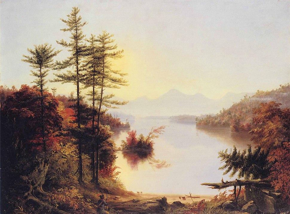 Thomas Cole - View on Lake Winnipiseogee