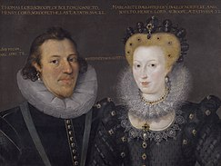 Lord Scrope with his mother, Margaret Howard. Thomas Lord Scrope and his mother Margaret Howard, Englisch School, late 16th century.jpg